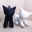 ตุ๊กตาแมวยืน Kitten Cat Softy Toy - BLACK thumbnail 4