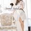 Korea Smart White Long Blouse With Brown Belt by Seoul Secret thumbnail 3