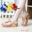 รองเท้าแฟชั่นสไตล์ fitflop หูคีบแต่งดอกไม้น่ารัก thumbnail 3