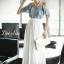 Maxi Dress Long Style Korea Two Tone thumbnail 3