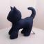 ตุ๊กตาแมวยืน Kitten Cat Softy Toy - BLACK thumbnail 2