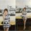 Lady Ribbon's Made Lady Isabel Vintage Glam Mixed Print Mini Dress thumbnail 4