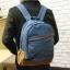 พร้อมส่ง กระเป๋าเป้ สีน้ำเงิน ผ้าแคนวาส thumbnail 1