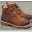 พร้อมส่ง รองเท้าบูทผู้ชาย สีน้ำตาล มีซิปด้านข้าง รองเท้าบูทหนัง แบบร้อยเชือก ใส่ง่าย thumbnail 4