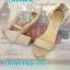 รองเท้าแฟชั่นรัดข้อส้นปิดหนังนิ่มสีพาดเทลสวยหวานน่ารัก thumbnail 3
