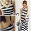 Lady Julienne Urban Chic Stripped Maxi Dress thumbnail 8