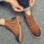 พร้อมส่ง รองเท้าบูทผู้ชาย สีน้ำตาล มีซิปด้านข้าง รองเท้าบูทหนัง แบบร้อยเชือก ใส่ง่าย thumbnail 3