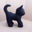 ตุ๊กตาแมวยืน Kitten Cat Softy Toy - BLACK thumbnail 1