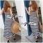 Lady Julienne Urban Chic Stripped Maxi Dress thumbnail 5