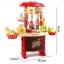 โต๊ะครัว mini kitchecn + shopping cart 2 in 1 อุปกรณ์ 56 ชิ้น ส่งฟรี สีแดง thumbnail 3