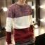 พร้อมส่ง เสื้อสเวตเตอร์ผู้ชาย สีขาวแดง แขนยาว เสื้อกันหนาว thumbnail 1