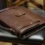 พร้อมส่ง กระเป๋าถือ กระเป๋าหนัง PU สีน้ำตาล ใส่เอกสาร ใส่ ipad ได้ thumbnail 5