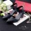 รองเท้าแฟชั่นหนังนิ่มทรงหัวแหลมหนังปั๊มลายตารางสวยหรู thumbnail 3