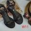 รองเท้าแตะแฟชั่น แบบสวมรัดข้อเท้าแต่งโซ่ด้านหน้า thumbnail 2