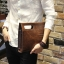 พร้อมส่ง กระเป๋าหนังPU สีน้ำตาล กระเป๋าผู้ชาย ใช้ถือหรือสะพายข้างได้ thumbnail 2