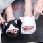 รองเท้าแตะแฟชั่นยางลายแมวแต่งหูแมวน่ารักมาก thumbnail 2