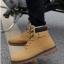 พร้อมส่ง รองเท้าหุ้มข้อ ผู้ชาย รองเท้าหนัง รองเท้าหุ้มข้อ สีเหลือง แบบผูกเชือก thumbnail 1