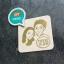 ตราปั๊มรูปคู่ ขนาด 5x5 ซม. thumbnail 2