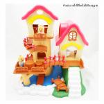 บ้านตุ๊กตา บ้านต้นไม้ พร้อมเฟอร์นิเจอร์ และตุ๊กตา 2 ตัว