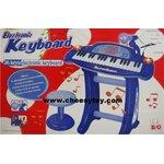 Electronic Keyboard 36 keys มีไมค์ อัดเสียงได้ พร้อมเก้าอี้นั่ง (น้ำเงิน)