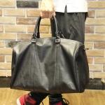 พรีออเดอร์ กระเป๋า สีดำ หรือใช้สะพาย หนังPU ใบใหญ่ ใช้เป็นกระเป๋าเดินทางได้