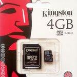 Kingston Micro Sd card 4GB (class 4 )