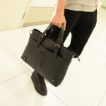 พร้อมส่ง กระเป๋าใส่เอกสาร สีดำ กระเป๋าสะพายข้างผู้ชาย