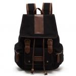 พร้อมส่ง กระเป๋าเป้ สีดำ เป้สะพายหลัง ทำด้วยผ้าแคนวาส ใบใหญ่ ใส่ ipad notebook ได้