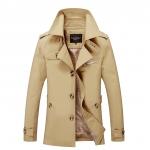พร้อมส่ง เสื้อแจ็คเก็ตกันหนาวผู้ชาย สีกากี ออกแบบเท่ห์ ใส่กันหนาว ใส่คลุมได้