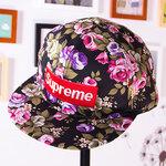 หมวก Supreme ลายดอกไม้
