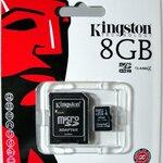Kingston Micro Sd card 8GB (class 4 )