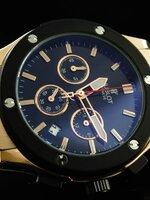 นาฬิกา Hublot ระบบ Chronograph สี Pink Gold จับเวลา กด 2 จังหวะ งาน Mirror สวยขั้นแทพ งานดี