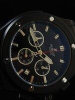 นาฬิกา Hublot ระบบ Chronograph ดำทั้งเรือน จับเวลา กด 2 จังหวะ งาน mirror สวยขั้นแทพ งานดี