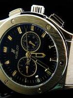 นาฬิกา Hublot หน้าปัดสีดำ ตัวเรือนสีเงิน ระบบ Automatic งาน AAA สวยขั้นแทพ หายากระบบจริงทั้งหมด