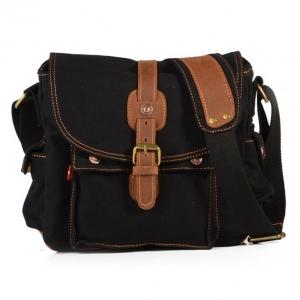 พร้อมส่ง สีดำ กระเป๋าสะพายข้าง สะไตล์วินเทจ เท่ห์ๆ
