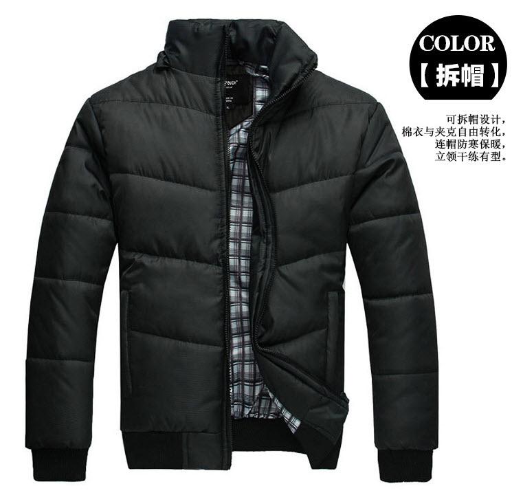 เสื้อกันหนาว แฟชั่น พร้อมส่ง สีดำ มีฮู้ด ฮู๊ดถอดออกได้ สไตล์เท่ห์ๆ ใส่กันหนาว น้ำหนักเบา หนา ใส่แล้วอุ่น