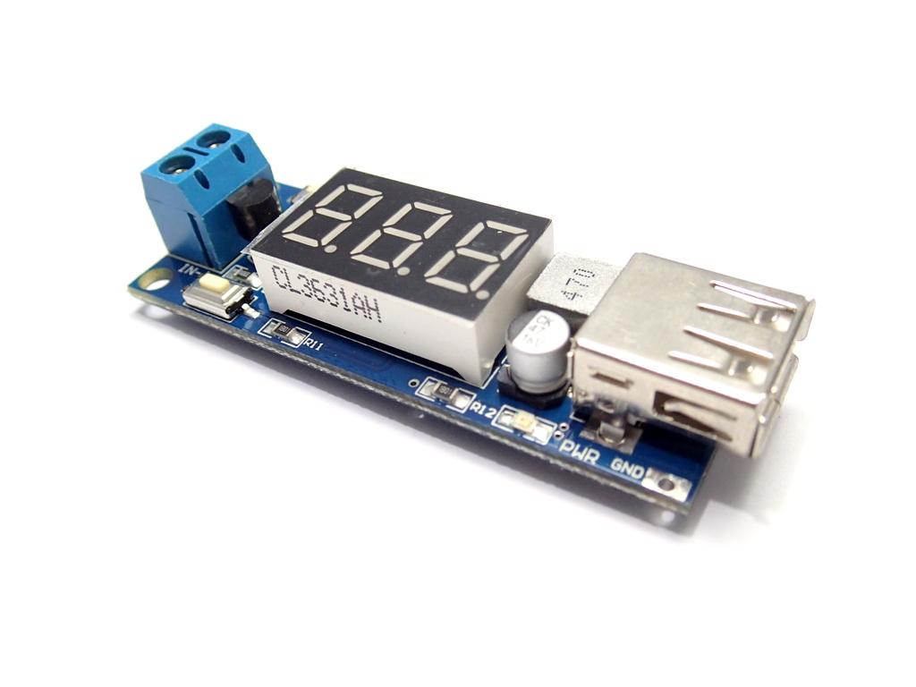 USB Port DC Step-Down 6.5-40V to 5V 2A