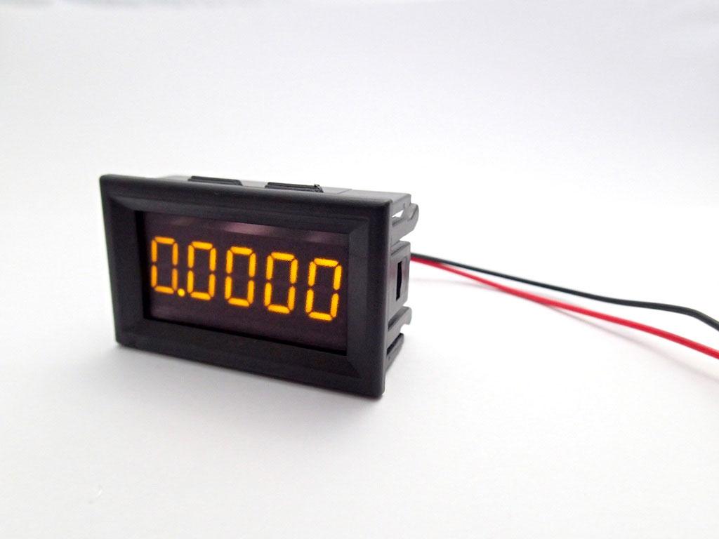 "DC Digital Ammeter 5 digits 0-3A Built-in Shunt 036"" [Yellow]"