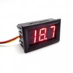"""ดิจิตอลโวลต์มิเตอร์ DC 0-100V 3-wire 0.56"""" [Red]"""