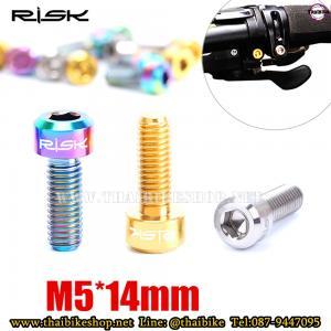 น็อตไทเทเนียม RISK ขนาด M5*14 สำหรับใส่ SHIFTER