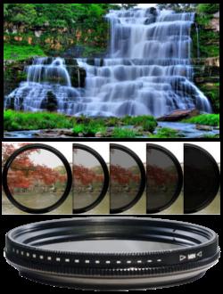 Variable Adjustable Fader ND ND2-ND400 Filter หลายขนาด