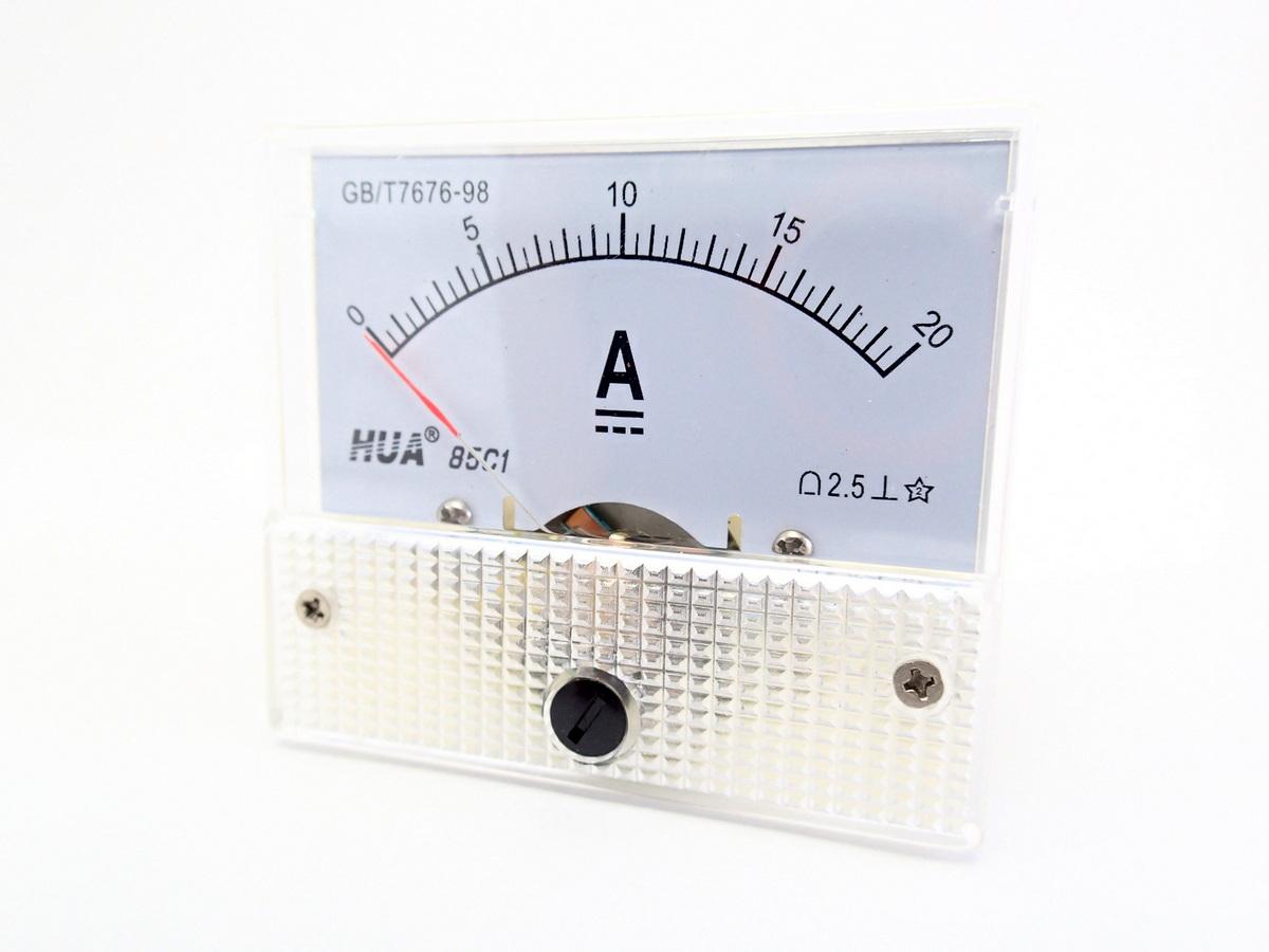 แอมมิเตอร์ DC Analog 0-20A Built-in Shunt