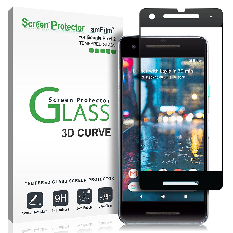 กระจกกันรอย amFilm Google Pixel 2 Tempered Glass Screen Protector Dot Matrix 0.3mm (1 Pack)