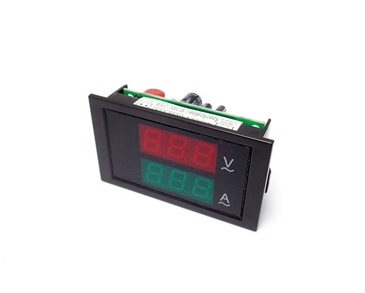 AC Digital Voltmeter / Ammeter 80-300V 0-100A LED [Red/Green] External CT