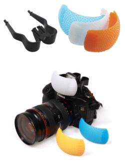ตัวกระจายแสงแฟลช Pop-up Built-in Flash Diffuser 3 สี ขาว ส้ม น้ำเงิน