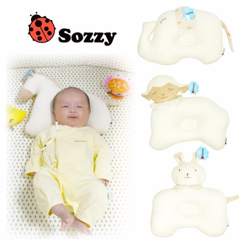 หมอนหลุม Sozzy Baby Pillow พร้อมส่งลาย ช้าง/แกะ/กระต่าย/ม้า