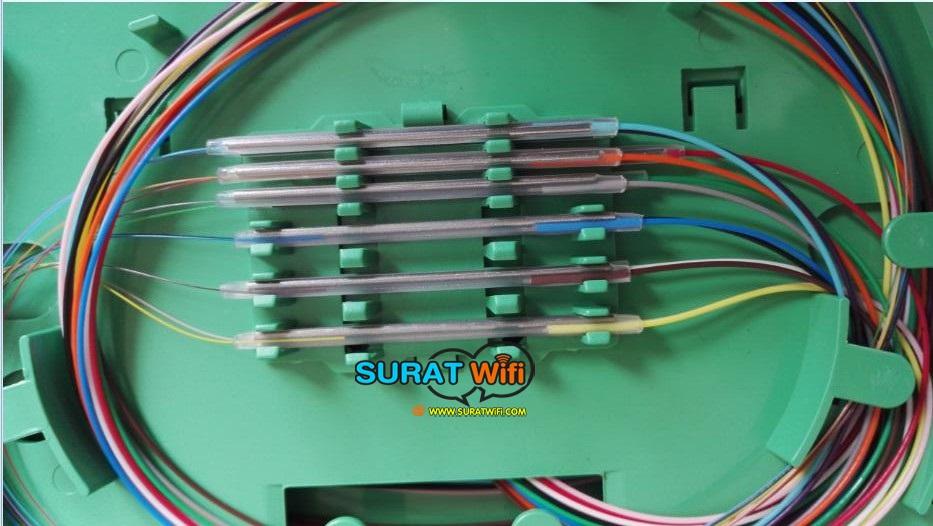 สลิปต่อสายไฟเบอร์แบบผอม FTTx เข็มเป็นลวดสแตนเลส 1.0mm คุณภาพสูง ความยาวของหลอดพลาสติก 6cm