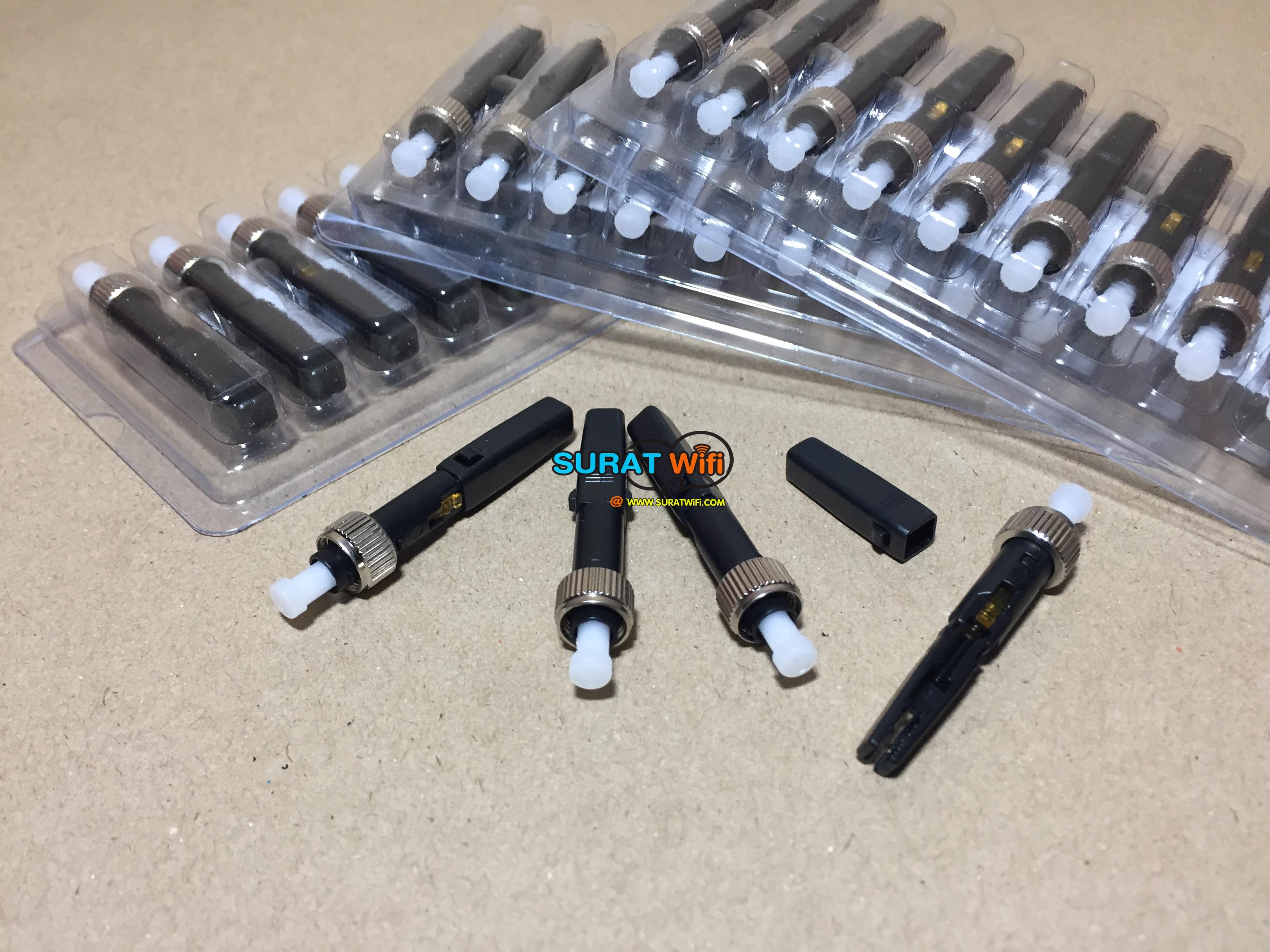 FC Fast Connector แบบแพ็ค สำหรับ เข้าหัวสาย Fiber Optic ด้วยตนเอง