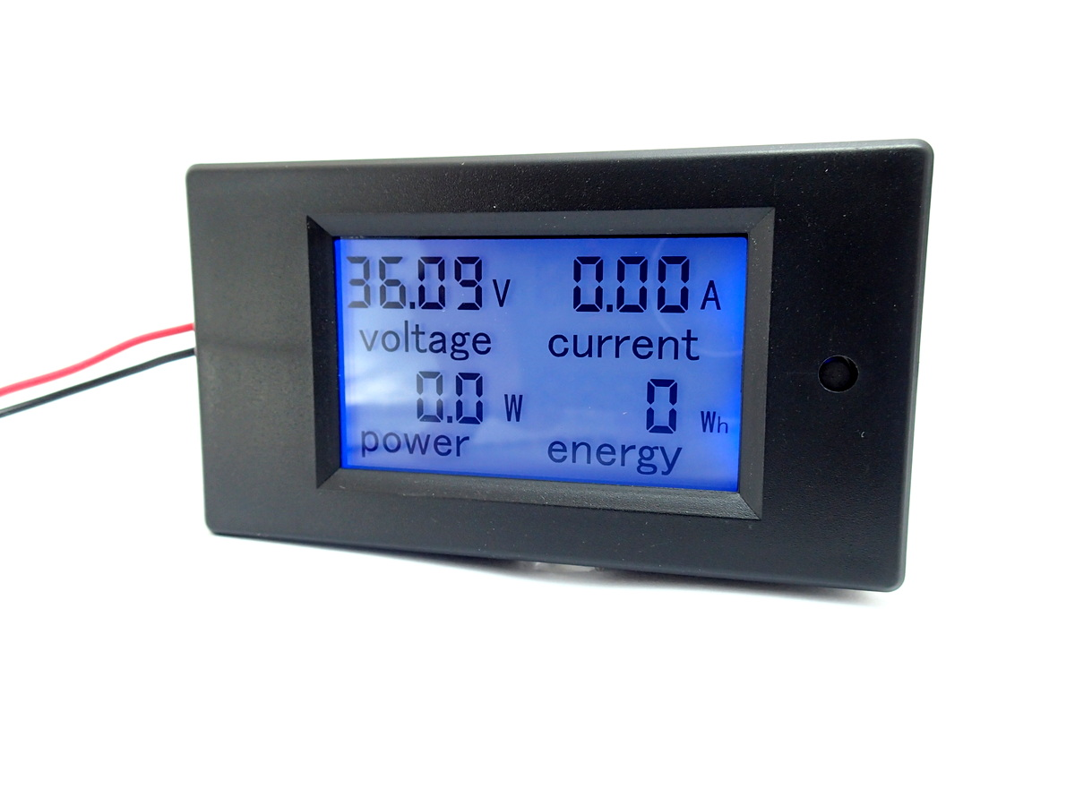 DC Digital LCD Volt/Amp/Watt Energy Meter 100A with Shunt