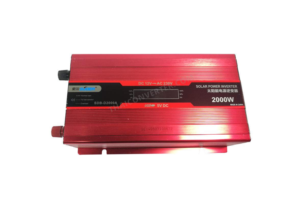 Inverter DC 12V to AC 220V 2000W Modified Sine